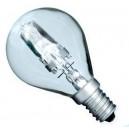 Caja 10 bombillas halógena ahorro consumo tipo incandescente esférica clara 28W(40W) E14