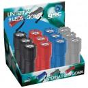 Expositor 12 Linternas 9 LEDs goma. Colores surtidos.