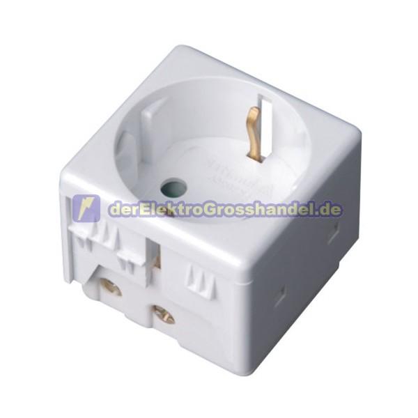 grosshandlung elektrischer betriebsmittel schuko steckdose module f r wasserdicht geh use breit. Black Bedroom Furniture Sets. Home Design Ideas