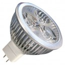 Caja 10 bombillas LED 3x2W (6W) MR16 12V 2700K cálida