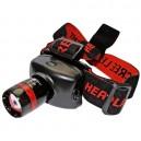 Linterna de cabeza con foco de aluminio de 1 LED de ultrabrillo 3W.