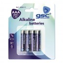Caja 10 blisters de 4 unidades de pilas alkalinas LR-03 (AAA) GSC