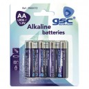 Caja 10 blisters de 4 unidades de pilas alkalinas LR-6 (AA) GSC