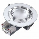 Downlight redondo empotrable E27 2x25W Ø235 Blanco