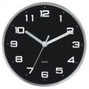 Reloj de Cocina Negro Ø25