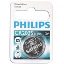 Caja 10 blisters de 1 ud. Pila botón Litio CR2025 3V Philips
