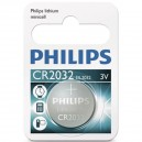 Caja 10 blisters de 1 ud. Pila botón Litio CR2032 3V Philips