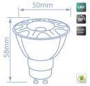 Box 10St. COB GU10 LED-Lampe 8W 556lm 3000K 50º