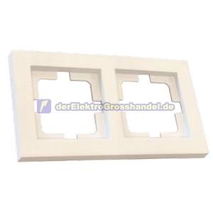Rahmen für Unterputz Schutzkontaktsteckdose 2-Module, weiß, gerade