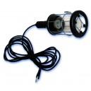 Lampara portatil industrial con pantalla metalica y goma, Max.60W/230V-50Hz.