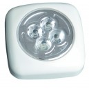 Pushlight de 4 LEDS luz blanca. ideal para habitaciones, garajes, escaleras, caravanas, campings, etc. 3 R 03 AAA.