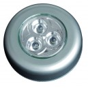 Pushlight de 3 LEDS luz blanca. ideal para habitaciones, garajes, escaleras, caravanas, campings, etc. 3 R 03 AAA.