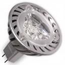 Caja 10 bombillas LED 3,6W (3x1W) MR16 G5,3 38º 2700k cálida
