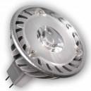 Caja 10 bombillas LED 3W MR16 G5,3 12V 38º 6400K fría