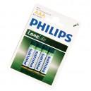 Caja 12 blisters de 4 unidades de pilas salinas R-03 (AAA) PHILIPS