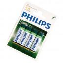 Caja 12 blisters de 4 unidades de pilas salinas R-6 (AA) PHILIPS