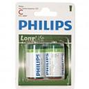 Caja 12 blisters de 2 unidades de pilas salinas R-14 (C) PHILIPS