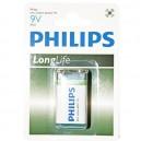 Caja 12 blisters de 1 unidad de pilas salinas  9V PHILIPS