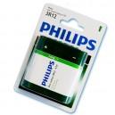 Caja 12 blisters de 1 unidad de pilas salinas  petaca 3R 12-4,5V PHILIPS