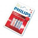 Caja 12 blisters de 4 unidades de pilas alkalinas LR-03 (AAA) PHILIPS
