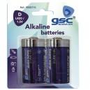 Caja 10 blisters de 2 uds de pilas alkalinas LR-20 (D) GSC