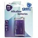 Caja 10 blisters de 1 uds de pilas alkalinas 9V GSC