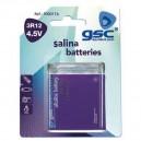 Caja 10 blisters 1 uds pilas Petaca 3R12 4,5V salinas GSC