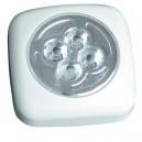 Pushlight de 4 LEDS luz blanca. ideal para habitaciones, garajes, escaleras, caravanas, campings, etc. 3 R 03 AAA.