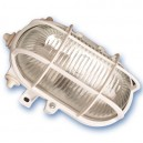Aplique  ovalado de plástico con mateial aislante y difusor de vidrio,E27.Máx.60W.230V. IP44, Negro.